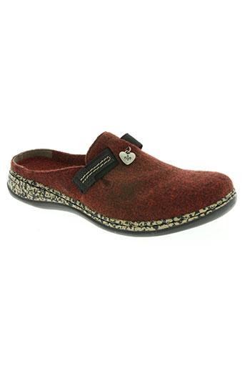 rieker chaussures femme de couleur rouge