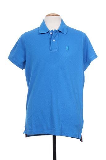 Polo manches courtes bleu TPTK pour homme