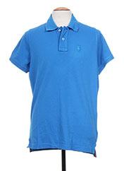 Polo manches courtes bleu TPTK pour homme seconde vue
