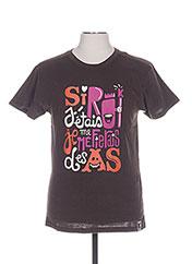 T-shirt manches courtes marron TPTK pour homme seconde vue