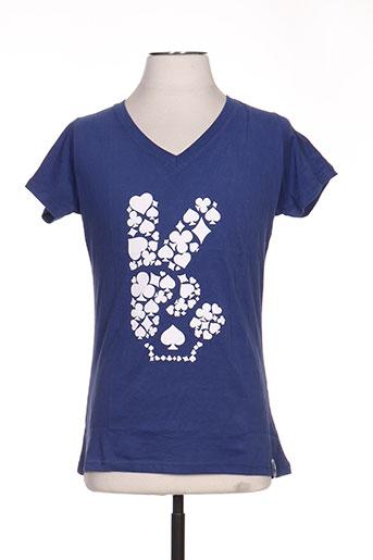 T-shirt manches courtes bleu TPTK pour femme