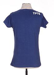 T-shirt manches courtes bleu TPTK pour femme seconde vue