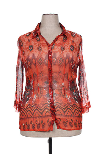agathe EFFI_CHAR_1 louise chemises femme de couleur rouge