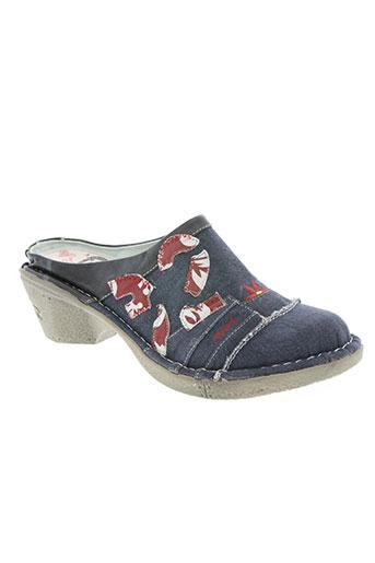 mustang chaussures femme de couleur bleu
