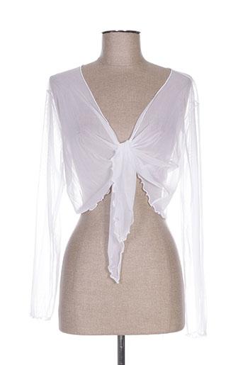 evalinka vestes femme de couleur blanc