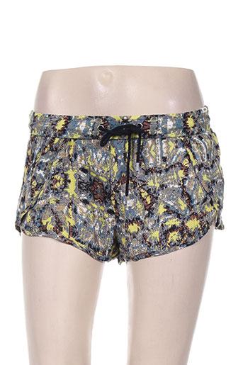 vans shorts / bermudas femme de couleur jaune