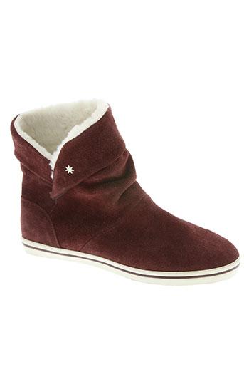 dc chaussures femme de couleur rouge