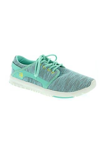 etnies chaussures femme de couleur vert