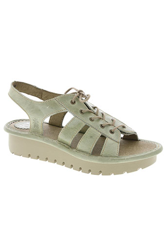 fly london chaussures femme de couleur vert