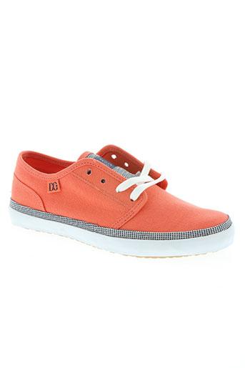dc chaussures femme de couleur orange