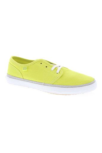 dc chaussures femme de couleur jaune