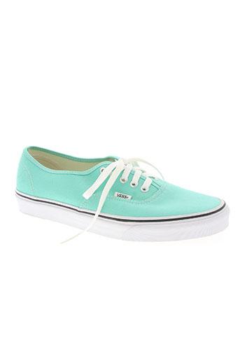 vans chaussures homme de couleur vert