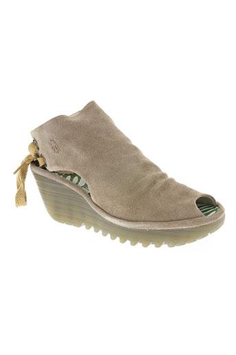 fly london chaussures femme de couleur beige