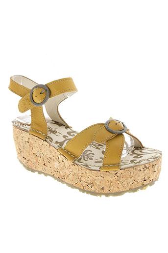 fly london chaussures femme de couleur jaune