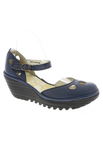 fly london chaussures femme de couleur bleu