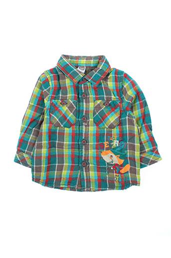 tuc tuc chemises garçon de couleur vert