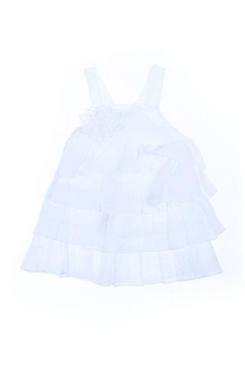 bulle de bb robes fille de couleur blanc