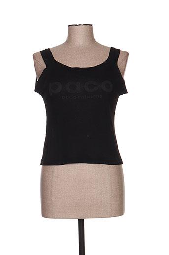 paco rabanne t-shirts femme de couleur noir