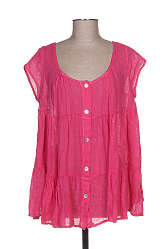 talia benson chemises femme de couleur rose