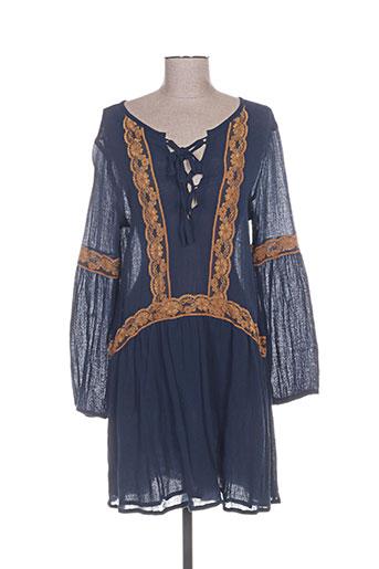 les piplett's robes femme de couleur bleu