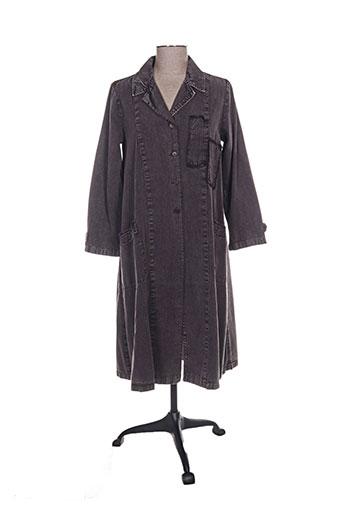 Manteau long marron VINTAGE POESY pour femme