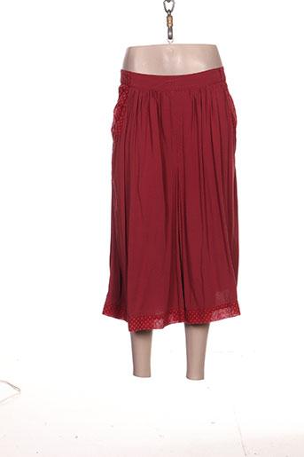 les piplett's jupes femme de couleur rouge