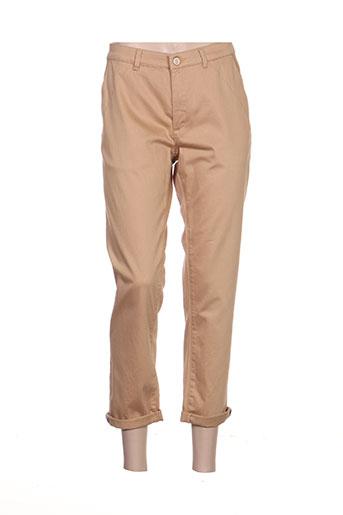noa noa pantalons femme de couleur beige