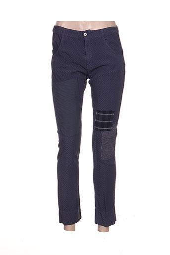 les piplett's pantalons femme de couleur violet