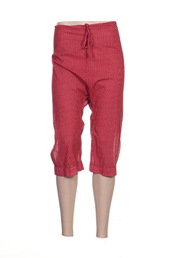les piplett's pantalons femme de couleur rouge