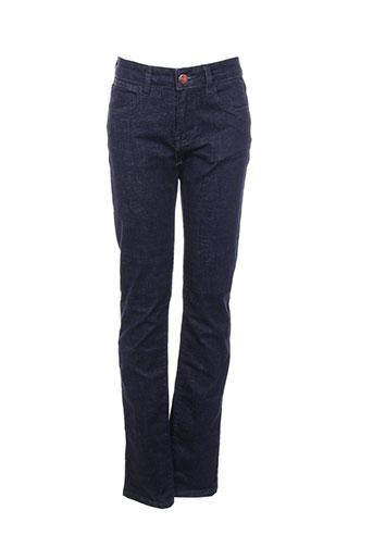 f.a.m. jeans femme de couleur bleu