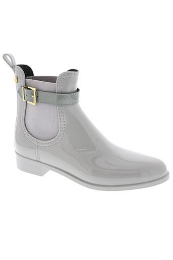 lemon jelly chaussures femme de couleur gris