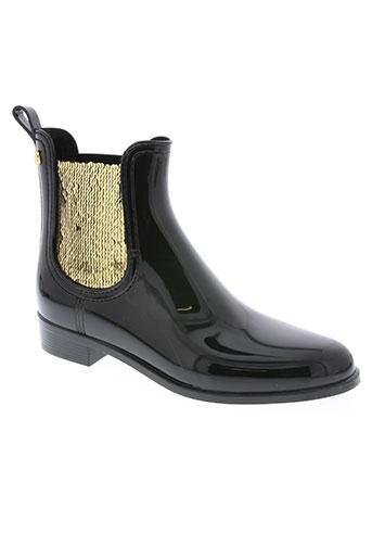 lemon jelly chaussures femme de couleur noir