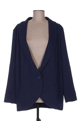 lily white vestes femme de couleur bleu
