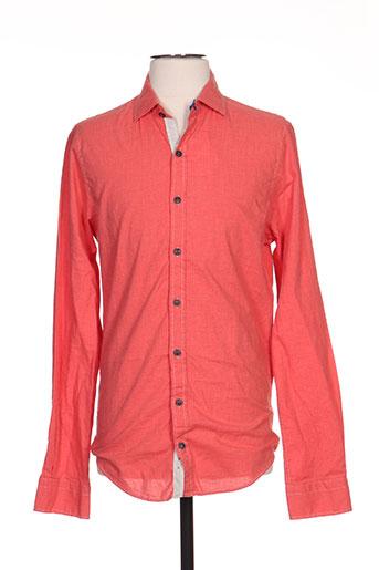 men of all nation chemises homme de couleur orange