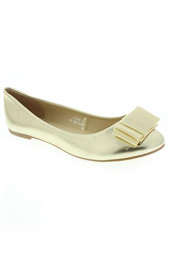 catisa chaussures femme de couleur jaune