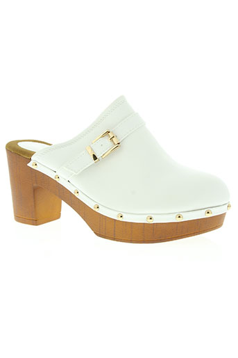 catisa chaussures femme de couleur blanc