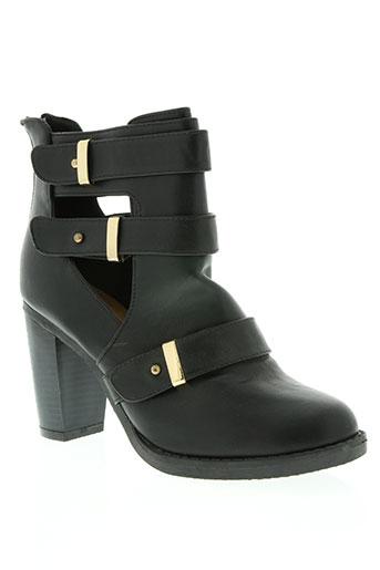 Bottines/Boots noir CREAMY MODA pour femme