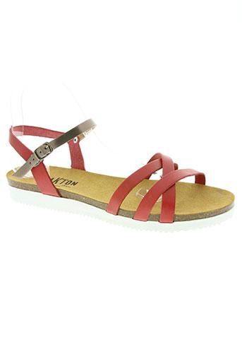 plakton chaussures femme de couleur rouge