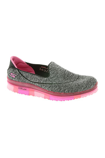 skechers chaussures femme de couleur gris