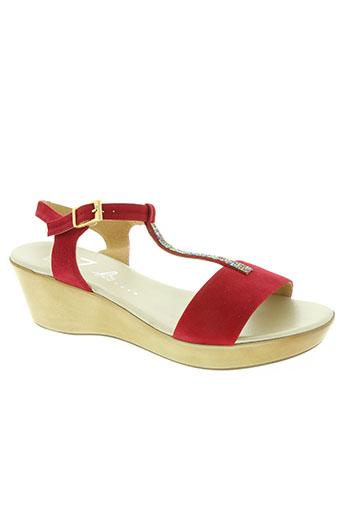 bz bis chaussures femme de couleur rouge