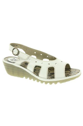 fly london chaussures femme de couleur blanc