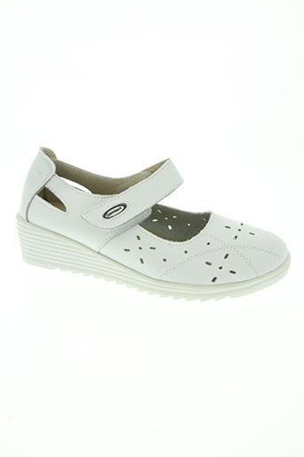51224e160e84b la bottine souriante chaussures femme de couleur blanc