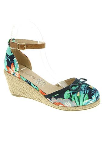 elue par nous chaussures femme de couleur vert
