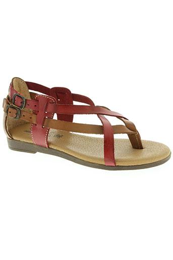spk chaussures femme de couleur rouge