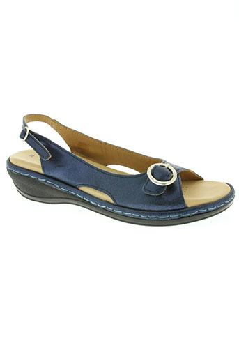 la marine chaussures femme de couleur bleu