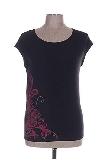 T-shirt manches courtes noir COLINE pour femme