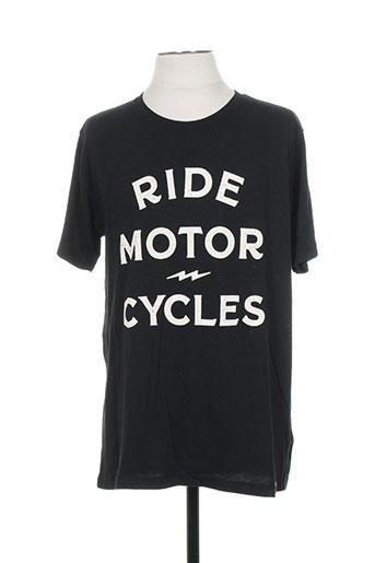 iron and resin t-shirts homme de couleur noir
