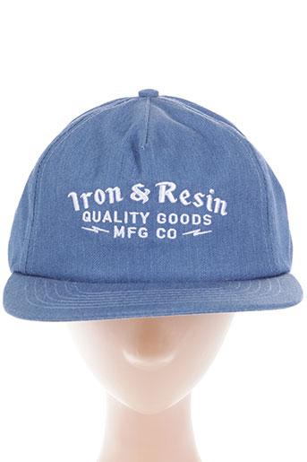 iron and resin accessoires homme de couleur bleu