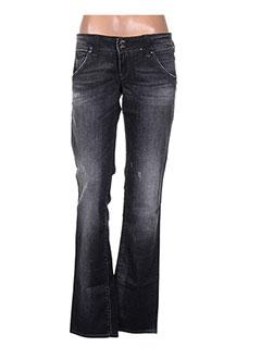 Jeans coupe droite noir GUESS JEANS pour femme