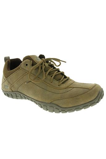 caterpillar chaussures homme de couleur beige